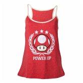 Nintendo Top (Damen) -M- Power Up, rot