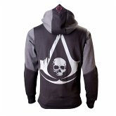 Assassins Creed 4 Hoodie -S-, Black Grey Character