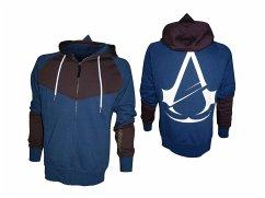 Assassins Creed Hoodie -M- mit Print, blau/braun