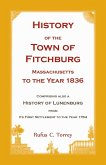 History of the Town of Fitchburg, Massachusetts, to the year 1836
