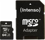 Intenso microSDXC Card 64GB Premium Class 10 UHS-I