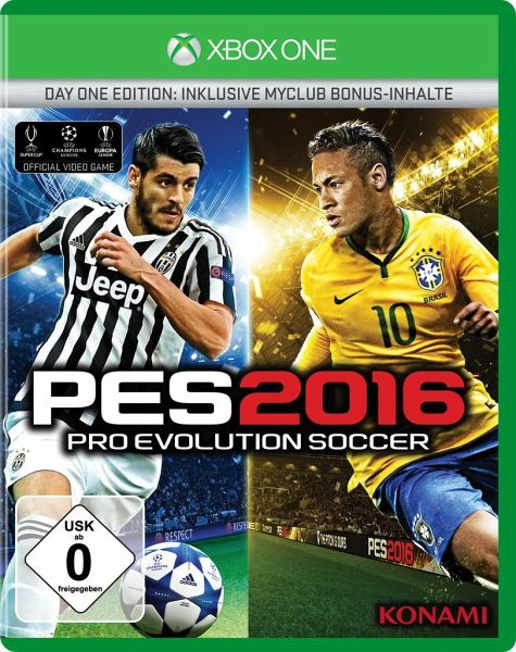pes 2016 pro evolution soccer day one edition xbox one spiel. Black Bedroom Furniture Sets. Home Design Ideas