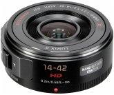 Panasonic Lumix 3,5-5,6/14-42 mm G X Vario PZ schwarz Zoom-Objektiv für Micro FourThirds (37 mm Filtergewinde, Micro FourThirds Sensor)