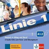 2 Audio-CDs zum Kurs- und Übungsbuch A1.2 / Linie 1