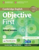 Student's Book without answers, with CD-ROM and Testbank / Objective First, Fourth edition