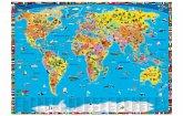 Illustrierte politische Weltkarte, Schreibtischunterlage