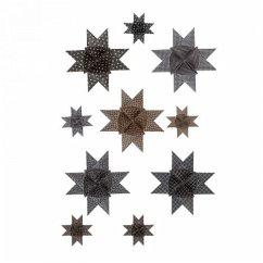 Fröbelsterne schwarz metallic