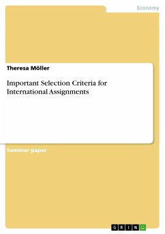 Important Selection Criteria for International Assignments