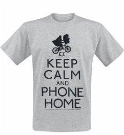E.T. Keep Calm T-Shirt Grey M
