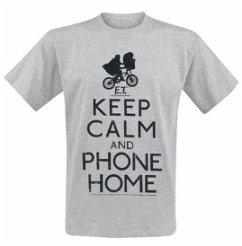 E.T. Keep Calm T-Shirt Grey L