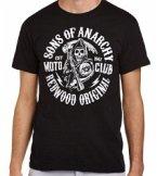 Sons of Anarchy Moto Club T-Shirt Black M