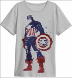 Captain America Hero T-Shirt Grey Xl