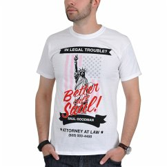 Better Call Saul Logo Flag T-Shirt White Xl