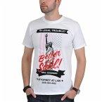 Better Call Saul Logo Flag T-Shirt White L