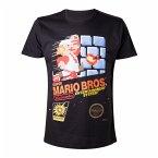 Nintendo T-Shirt -L- Super Mario Brother, schwarz