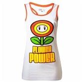 Nintendo Girls- Top Flower Power, Weiss -L-