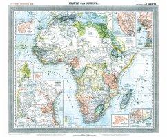 Historische Karte: Afrika, 1890 (Plano)