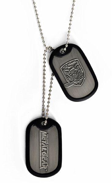 metal gear solid dog tags kette foxhound logo. Black Bedroom Furniture Sets. Home Design Ideas