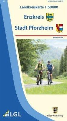 Topographische Landkreiskarte Baden-Württemberg...