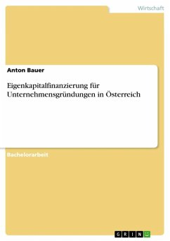 Eigenkapitalfinanzierung für Unternehmensgründungen in Österreich (eBook, ePUB)