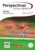 Perspectivas - Curso rápido A1/A2. Kurs- und Übungsbuch mit Vokabeltaschenbuch und Lösungsheft