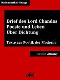 Ein Brief des Lord Chandos - Poesie und Leben - Über Dichtung (eBook, ePUB)