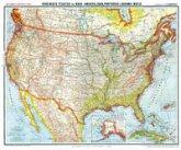 General-Karte von Vereinigte Staaten von Nord-Amerika (USA), Cuba, Portorico und Bahama-Inseln, um 1903 [Plano-Reprint]
