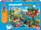Schmidt 56164 - Playmobil, Baumhaus, 150 Teile, Klassische Puzzle
