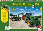Schmidt 56045 - John Deere, Traktoren der 5M Serie, 150 Teile, Klassische Puzzle