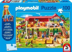 Schmidt 56163 - Playmobil, Bauernhof, 100 Teile, Klassische Puzzle