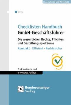 Checklisten Handbuch GmbH-Geschäftsführer