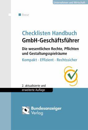 Checklisten Handbuch Gmbh Geschäftsführer Von Christian Bosse