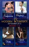 Modern Romance September 2015 Books 1-4: The Greek Commands His Mistress / A Pawn in the Playboy's Game / Bound to the Warrior King / Her Nine Month Confession (eBook, ePUB)