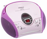 Lenco SCD-24 tragbarer CD Player MP3 pink