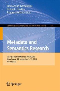 Metadata and Semantics Research