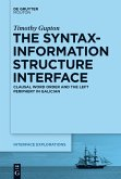 The Syntax-Information Structure Interface (eBook, PDF)