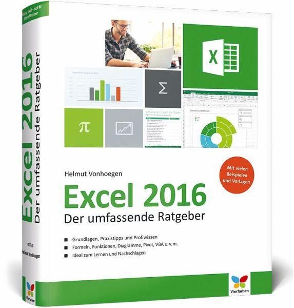 Excel 2016 Von Helmut Vonhoegen - Fachbuch