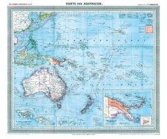 General-Karte von Australien und der Südsee, 1903 [gerollt] - Handtke, Friedrich