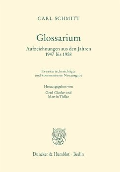 Glossarium. - Schmitt, Carl