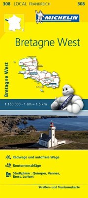 Michelin Karte Bretagne West; Finistere, Morbihan