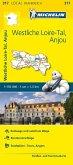 Michelin Karte Westliche Loire-Tal, Anjou. Indre-et-Loire, Maine-et-Loire