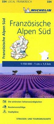 Michelin Karte Französische Alpen Süd