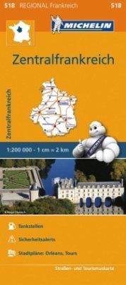 Michelin Karte Zentralfrankreich