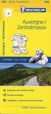 Michelin Karte Auvergne, Zentralmassiv