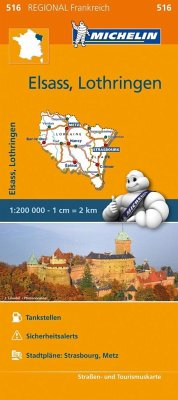 Michelin Karte Elsass, Lothringen; Alsace, Lorraine