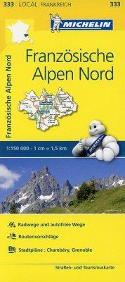 Michelin Karte Französische Alpen Nord; Isère, Savoie