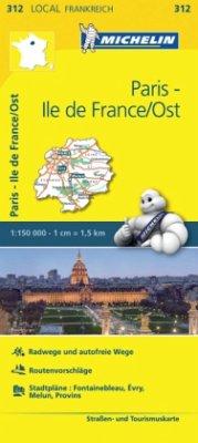 Michelin Karte Paris, Ile-de-France/Ost; Essonne, Paris, Seine-et-Marne