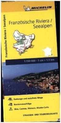 Michelin Karte Französische Riviera, Seealpen; Alpes-Maritimes
