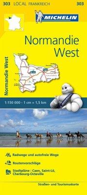 Michelin Karte Normandie West; Calvados, Manche