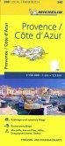 Michelin Karte Provence, Cote d' Azur; Bouches-du-Rhone, Var
